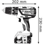 GSB 18-2-LI Plus κρουστικό δραπανοκατσάβιδο μπαταρίας 3 Χ 1.5Ah σε υφασμάτινη κασετίνα, Bosch