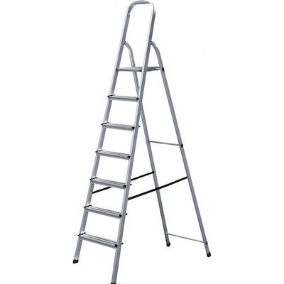 Σκάλα αλουμινίου 6+1 σκαλιών SA6+1, Bulle (631074)