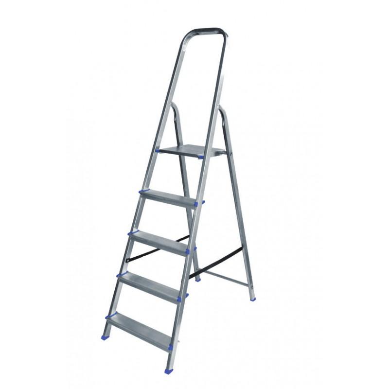 Σκάλα αλουμινίου 4+1 σκαλιών LA4+1
