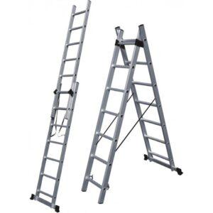 Σκάλα αλουμινίου διπλή επεκτεινόμενη 316cm