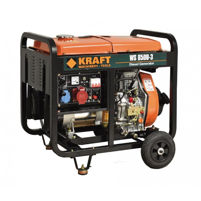 Ηλεκτρογεννήτρια πετρελαίου 6000W WS8500-3