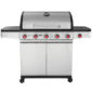 Ψησταριά BBQ υγραερίου Premium με 5 καυστήρες και 1 πλαϊνή εστία