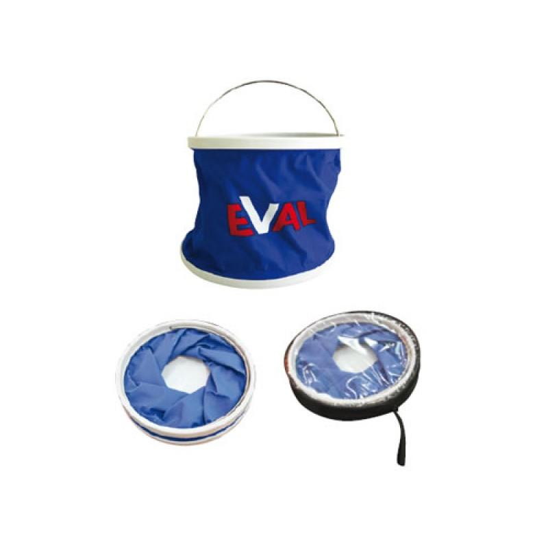 Κουβάς αναδιπλούμενος με inox χερούλι 03233, Eval
