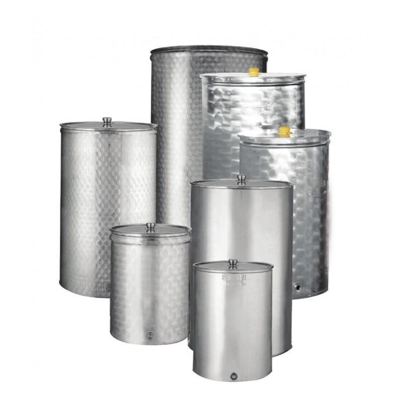 Ανοξείδωτη δεξαμενή - δοχείο (Inox) πρεσσαριστό 200lt (κατσαρόλα)