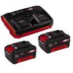 PXC-Starter-Kit Σετ ταχυφορτιστής και 2 μπαταρίες λιθίου 18v 3,0Ah, Einhell