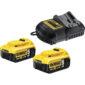 Σετ Φορτιστή DCB115 και 2 Μπαταριών 18V 5.0Ah DCB115P2, Dewalt