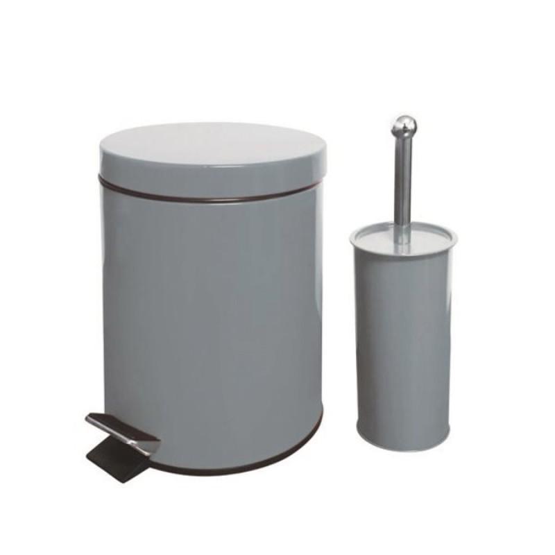Καλάθι μπάνιου 5Lt & πιγκάλ σετ Λευκό
