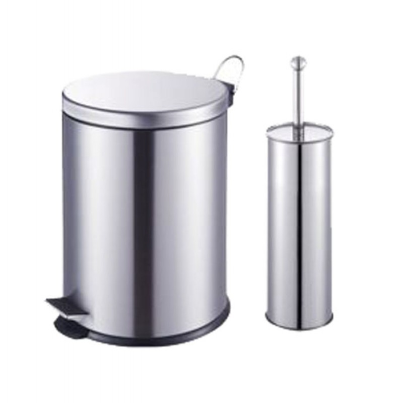 Καλάθι μπάνιου 5Lt & πιγκάλ σετ Χρωμέ