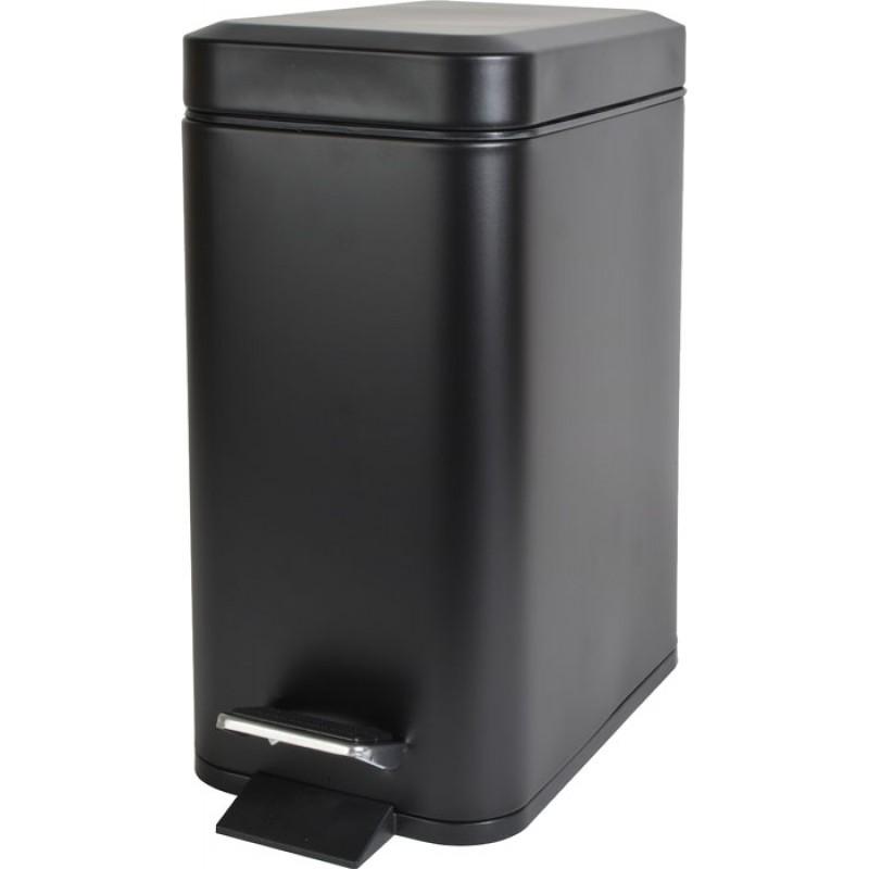 Καλάθι μπάνιου 5Lt Μαύρο Slim Type