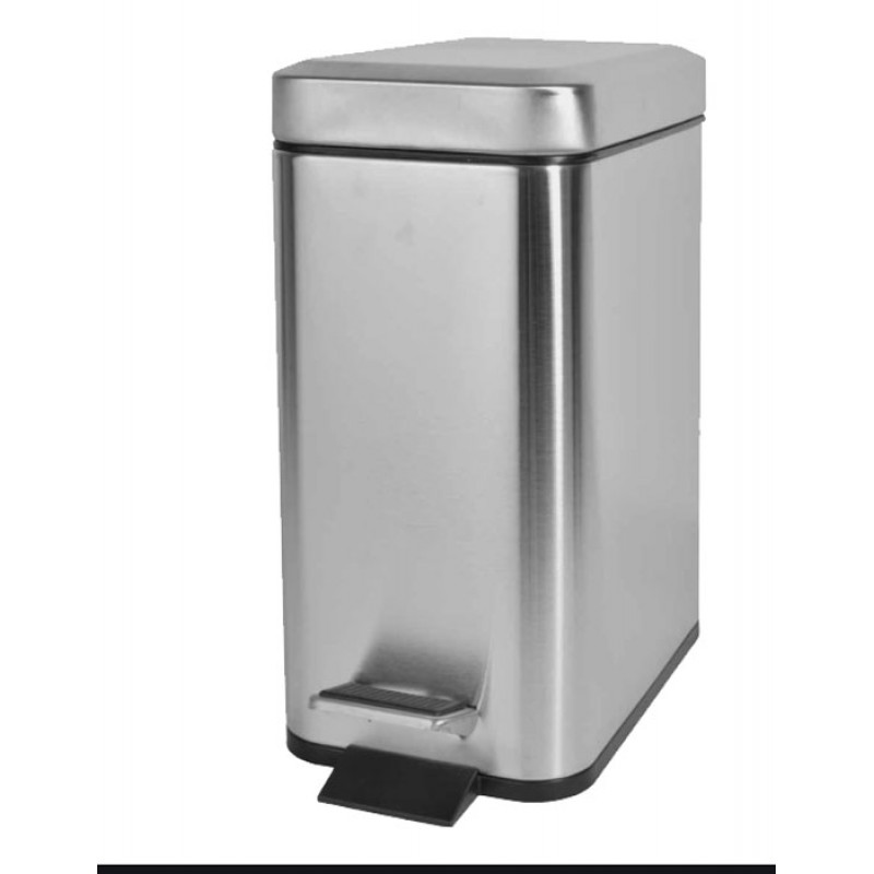 Καλάθι μπάνιου 5Lt Χρωμέ Slim Type