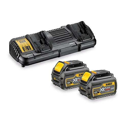 Σετ πολυφορτιστής XR Flexvolt με 2 μπαταρίες 18V/54V 6.0Ah DCB132T2-QW, DeWALT