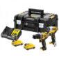 Σετ παλμικό κατσαβίδι, κρουστικό δραπανοκατσάβιδο σε εργαλειοθήκη και 2 μπαταρίες 12v 2.0ah DCK2111D2T, Dewalt