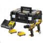 Σετ παλμικό κατσαβίδι, κρουστικό δραπανοκατσάβιδο σε εργαλειοθήκη και 2 μπαταρίες 12v 3.0Αh DCK2111L2T, Dewalt