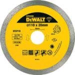 Διαμαντόδισκος κοπής πλακιδίων 110x20x1.6mm DT3715, Dewalt