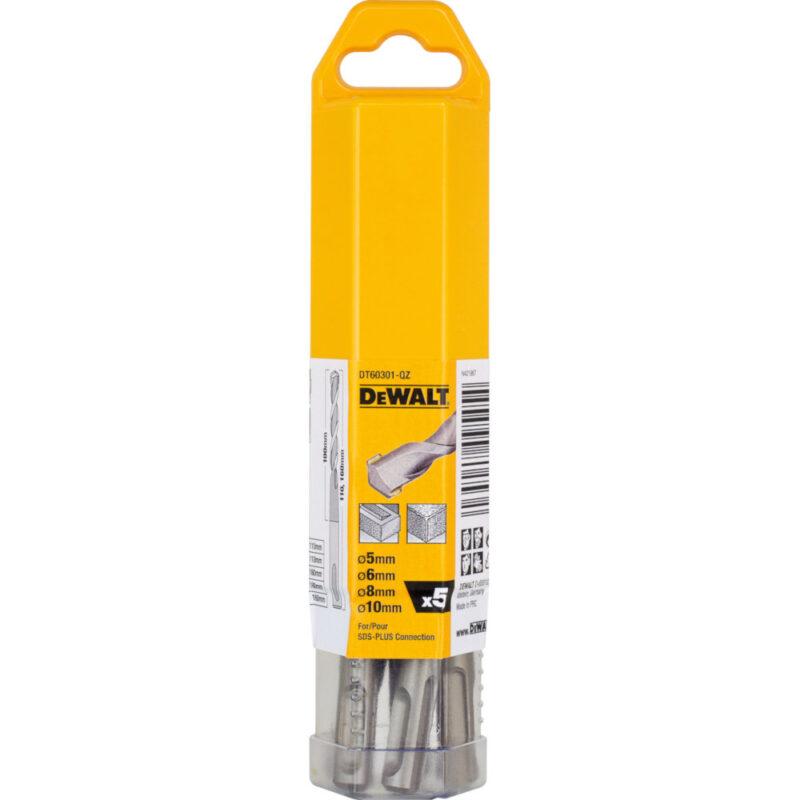 Τρυπάνια δομικών υλικων SDS-Plus 5 τεμαχίων DT60301, Dewalt