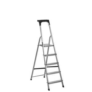 Σκάλα αλουμινίου οικιακής χρήσης 5+1 σκαλοπάτια HS55106, Krausmann
