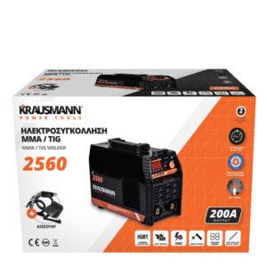 Ηλεκτροσυγκόλληση MMA/TIG 200A 2560, Krausmann
