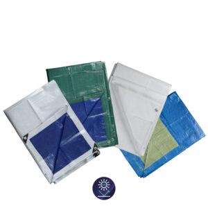 Μουσαμάς με κρίκους πράσινο – μπλε 65gr/τμ 3 × 4m GN23504, Krausmann