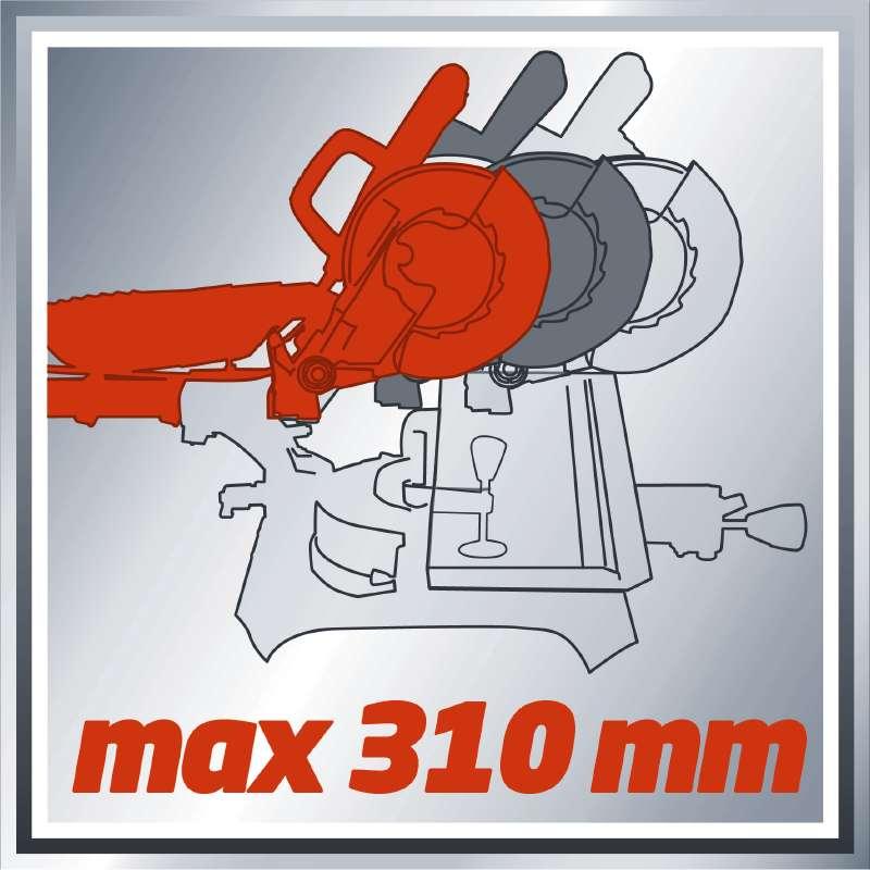 Φαλτσοπρίονο συρόμενο με Laser TC-SM 2131 Dual, Einhell
