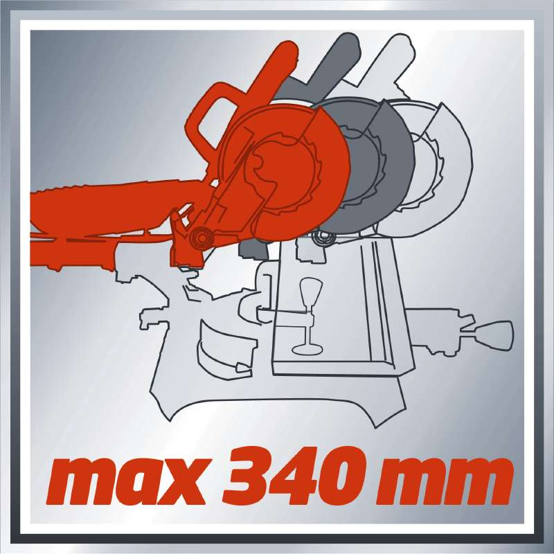 Φαλτσοπρίονο συρόμενο με Laser TC-SM 2534 Dual, Einhell