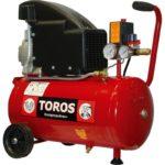 Αεροσυμπιεστής μονομπλόκ (χωρις λάδι) 24lt 2hp, Toros