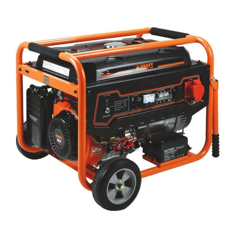 Γεννήτρια βενζίνης με μίζα & μπαταρία τριφασική LT-9000-3, Kraft