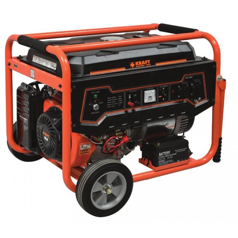 Γεννήτρια βενζίνης με μίζα & μπαταρία LT-9000, Kraft