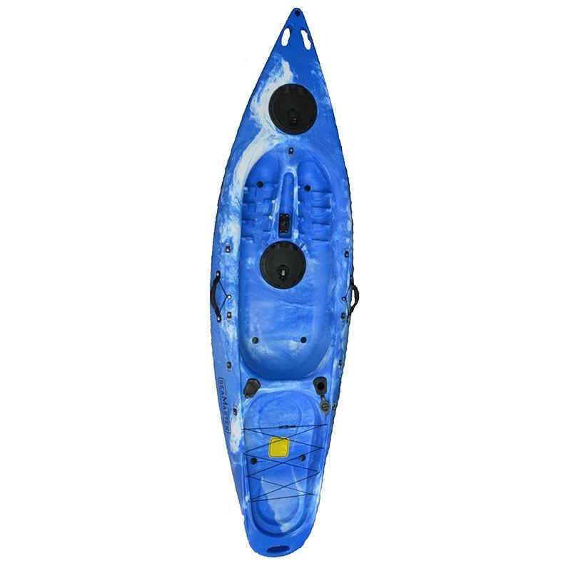 Πλαστικό καγιάκ Explorer μπλε με γυαλί βυθού, Eval