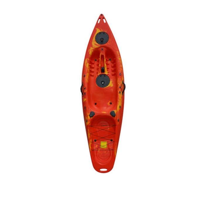 Πλαστικό καγιάκ Explorer κόκκινο με γυαλί βυθού, Eval