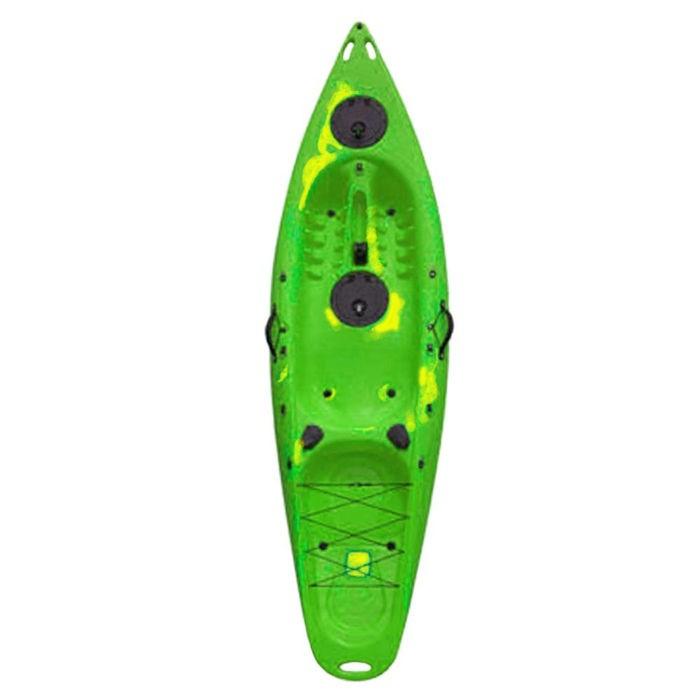 Πλαστικό καγιάκ Explorer πράσινο με γυαλί βυθού, Eval