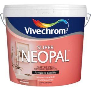 Πλαστικό Χρώμα Super Neopal Λευκό 10 Lt για εσωτερικούς χώρους, Vivechrom
