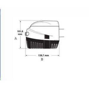Αυτόματη αντλία σεντίνας Attwood  Sahara, 01397-75